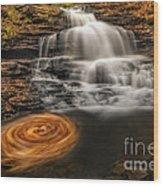 Cascading Swirls Wood Print