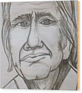 Cash Caricature Wood Print by Pete Maier