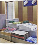 Cashier Desk Wood Print