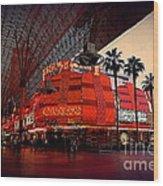 Casino Fremont Street Las Vegas Wood Print by Susanne Van Hulst