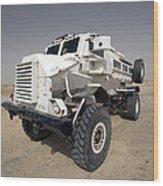 Casper Armored Vehicle Sits Wood Print