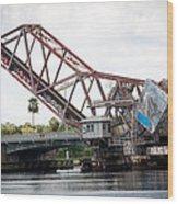 Cass St. Bridge Tampa Wood Print