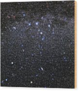 Cassiopeia And Andromeda Constellations Wood Print by Eckhard Slawik