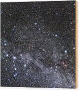 Cassiopeia And Cepheus Constellations Wood Print by Eckhard Slawik