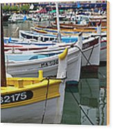 Cassis Boats Wood Print by Brian Jannsen