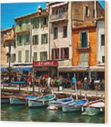 Cassis France Wood Print