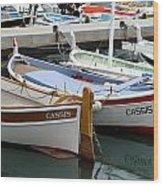 Cassis Harbor Wood Print