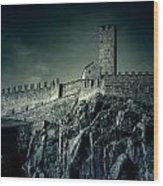 Castelgrande Bellinzona Wood Print by Joana Kruse