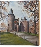 Castell Coch Wood Print