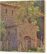Castillo De Amoroso Farmhouse Napa Valley Wood Print by George Sylvia