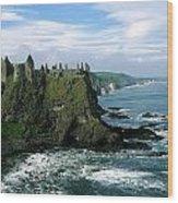 Castle At The Seaside, Dunluce Castle Wood Print