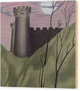 Castle By Moonlight Wood Print