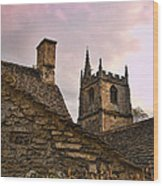 Castle Combe Medieval Church Wood Print