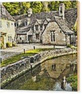 Castle Combe Riverside Wood Print