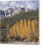 Castle Crags Autumn Wood Print