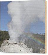 Castle Geyser Eruption, Upper Geyser Wood Print