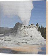 Castle Geyser Steam Phase, Upper Geyser Wood Print