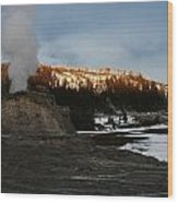Castle Geyser Yellowstone National Park Wood Print