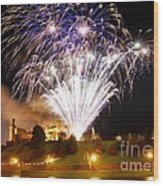 Castle Illuminations Wood Print