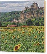 Castle In Dordogne Region France Wood Print