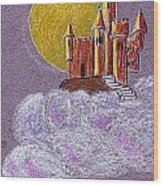 Castle Moon Wood Print