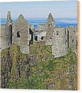 Castle On A Cliff, Dunluce Castle Wood Print