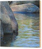 Castor River Reflections Wood Print