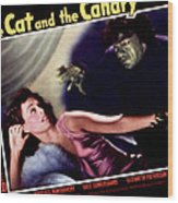 Cat And The Canary, The, Paulette Wood Print by Everett