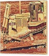 Cat Bulldozer . 7d10945 Wood Print