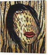 Cat Woman 2 Wood Print