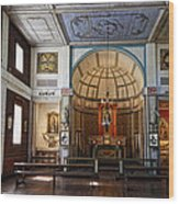 Cataldo Mission Altar And Interior Wood Print