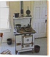 Cataldo Mission Parish Stove Wood Print