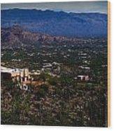 Catalina Foothills Homes Wood Print