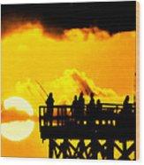 Catch A Sunset Wood Print