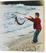 Catch And Release Wood Print