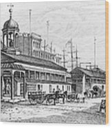 Catharine Market, 1850 Wood Print