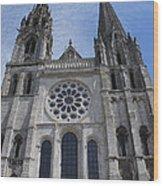Cathedral At Chartres Wood Print