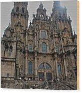 Cathedral At Santiago De Compostela Wood Print