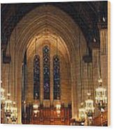 Cathedral In Chicago Wood Print