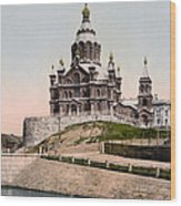 Cathedral In Helsinki Finland - Ca 1900 Wood Print