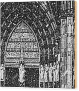 Cathedral In The Snow Panorama Wood Print