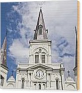 Cathedral Of Saint Louis Wood Print