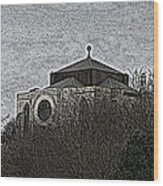 Cathedral On The Hill Wood Print