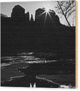 Cathedral Rock Sunrise Sedona Arizona Wood Print