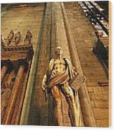 Cathedral Statue Milan Italy Wood Print