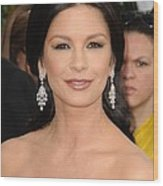 Catherine Zeta-jones Wearing Van Cleef Wood Print by Everett
