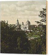 Catholic Church In Kiev - Ukraine - Ca 1900 Wood Print