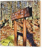 Catoctin Trail Sign Wood Print
