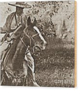 Cavalry Rides Again Wood Print