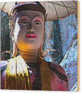 Cave Buddha Wood Print